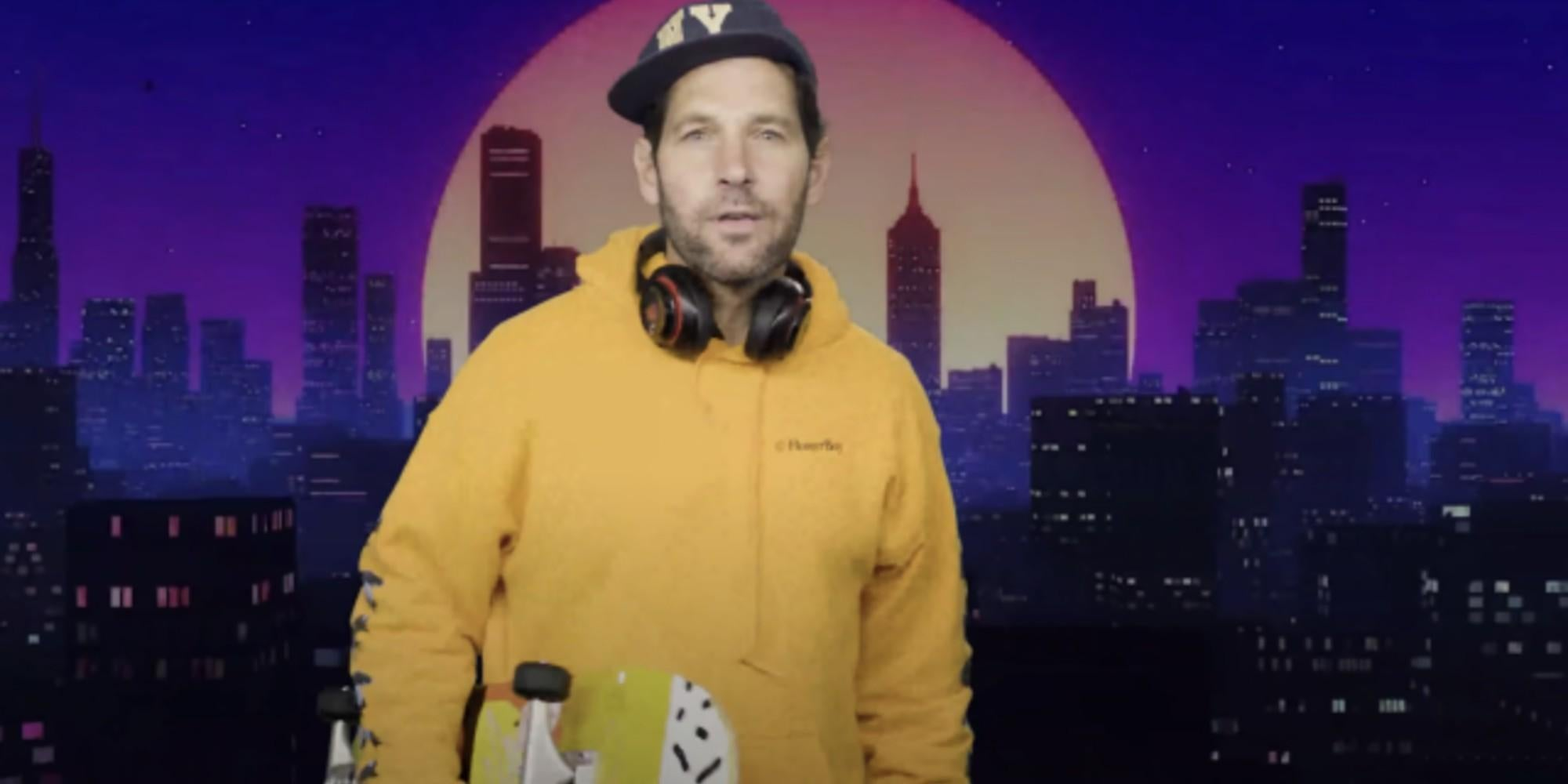 Paul Rudd bizarrely pretends to be a millennial to make a very important point