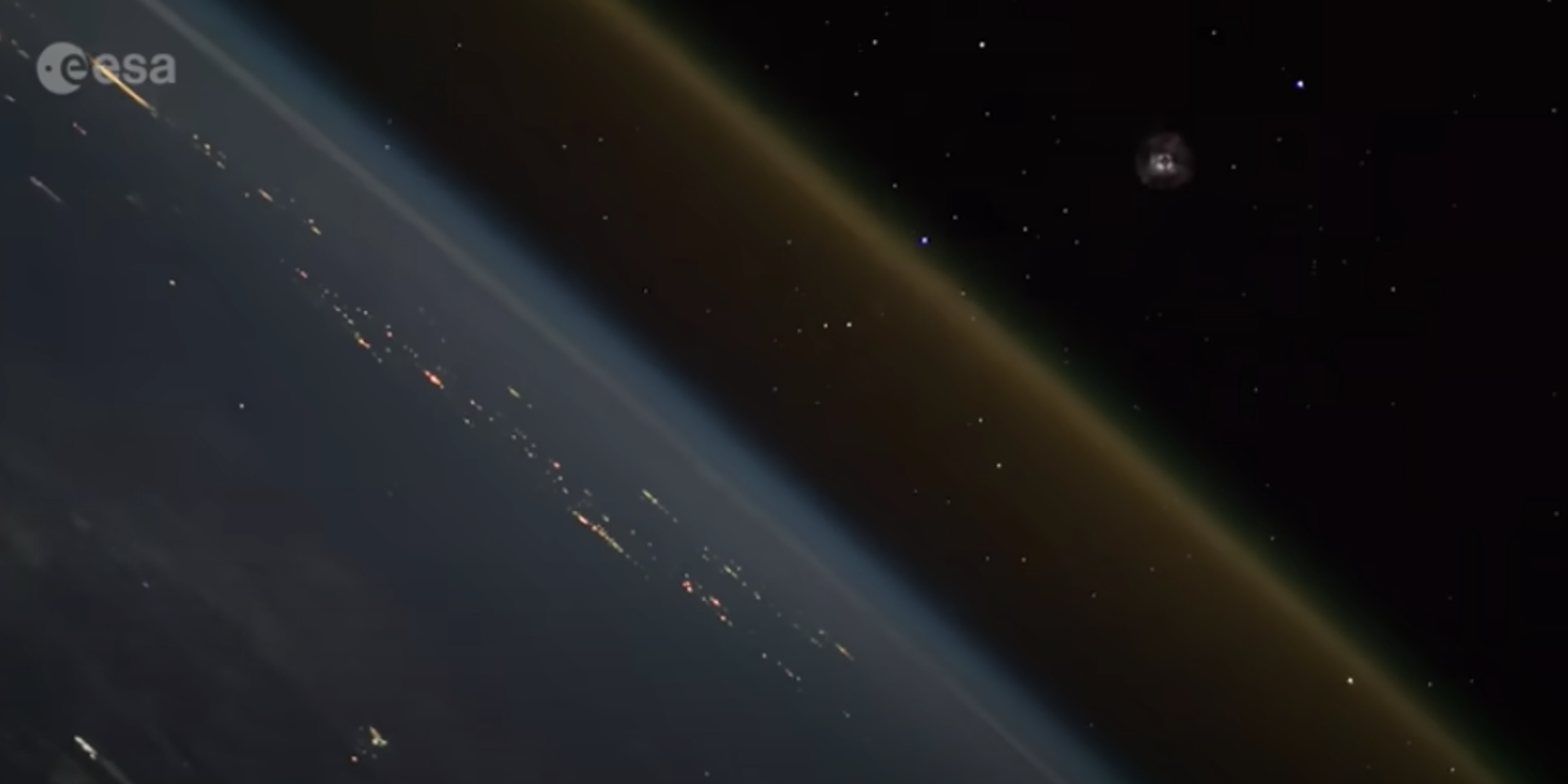 Footage captures what a rocket launch looks like from space