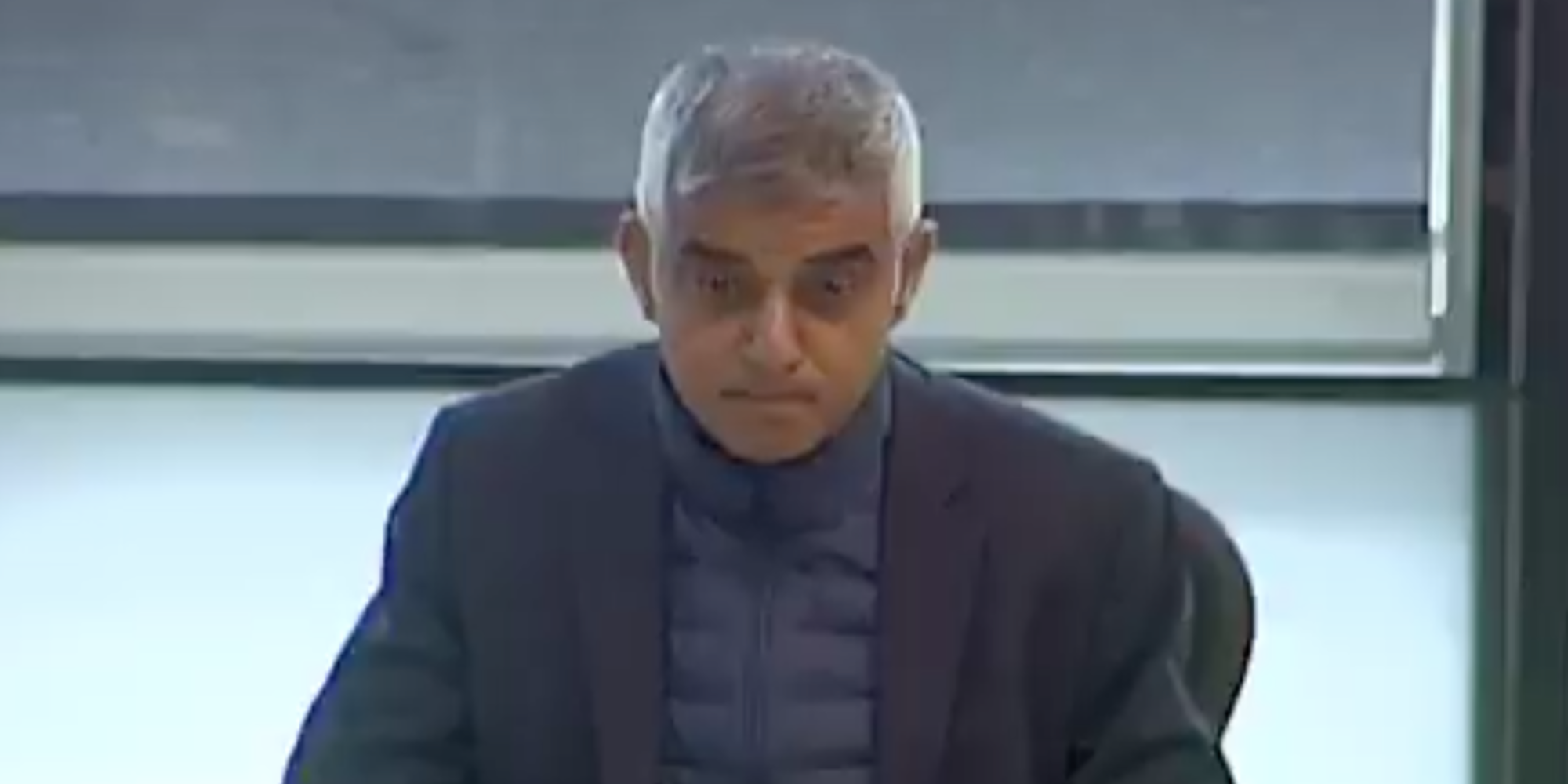 Sadiq Khan leaves viewers in 'awe' of his unique blazer-over-puffer-jacket combination
