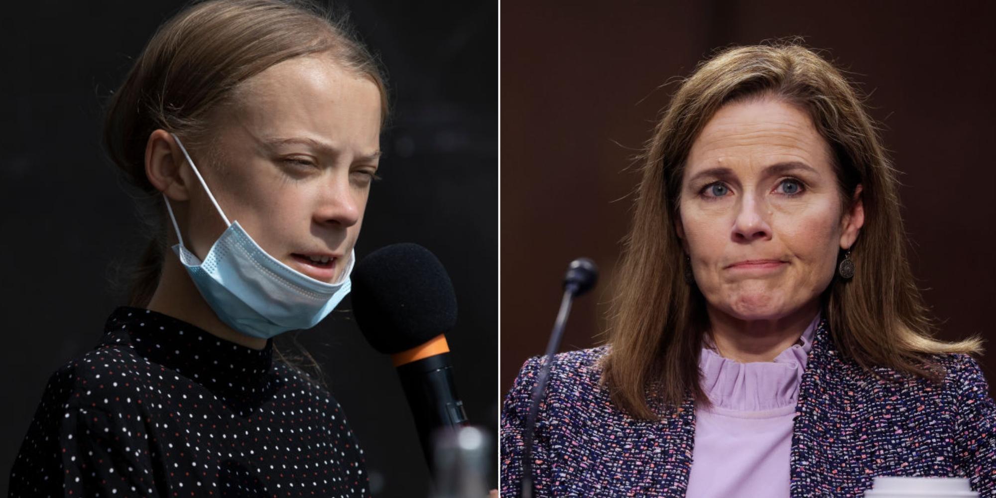 Greta Thunberg has perfect comeback to Amy Coney Barrett's 'views' on climate change
