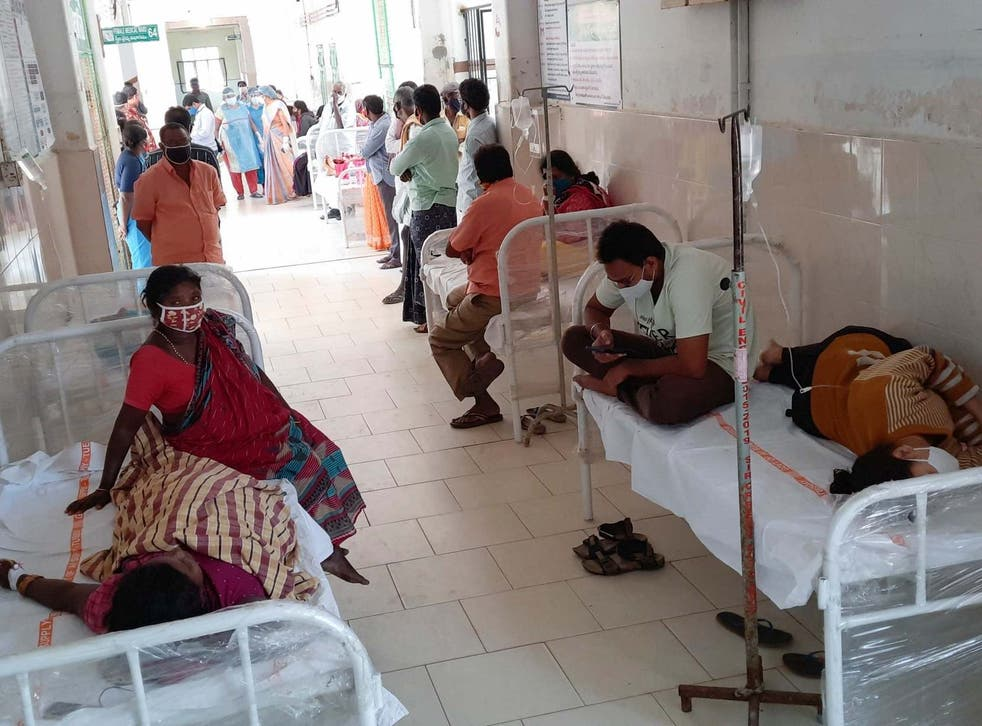 <p>File: Patients await treatment at a government hospital in India</p>