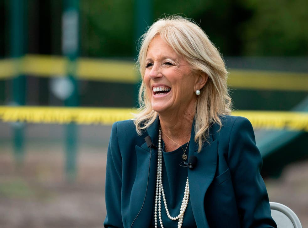 <p>Jill Biden met with prime minister Yoshihide Suga and his wife Mariko Suga on Thursday evening</p>