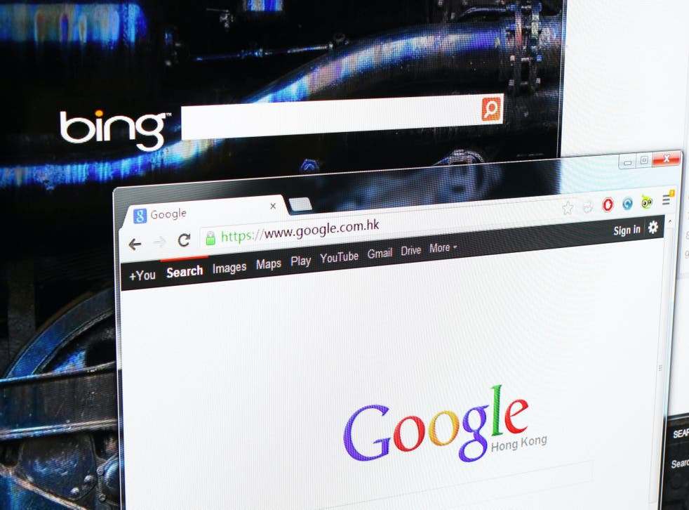 Slanders appear high on Google and Bing searches